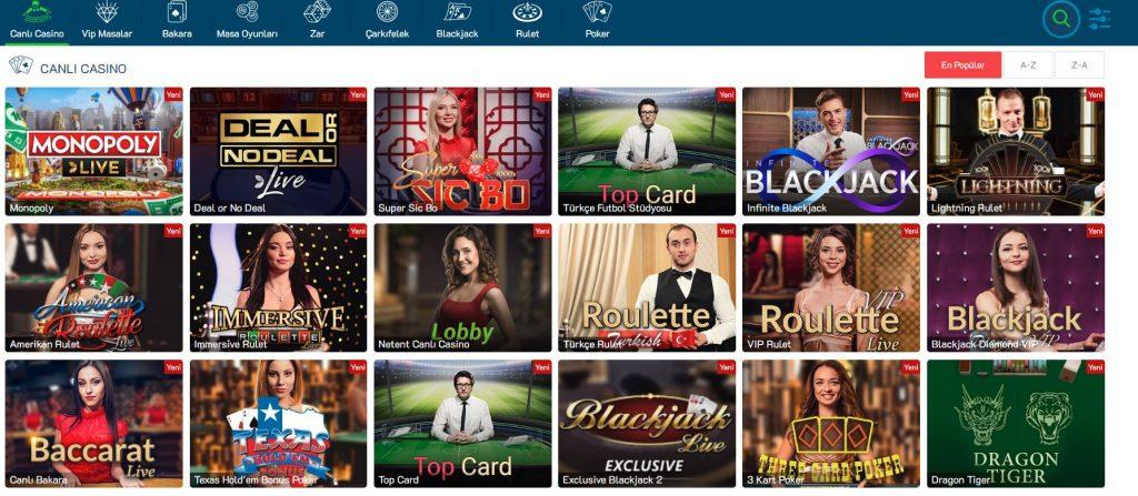 GazinoSlot Casino Oyunları Nelerdir