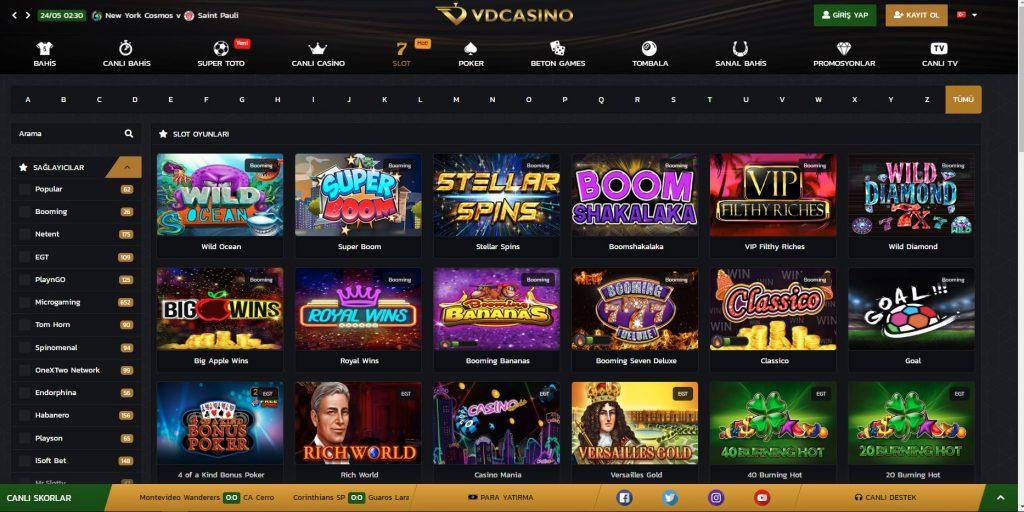 VdGazino Slot Oyunları Nelerdir